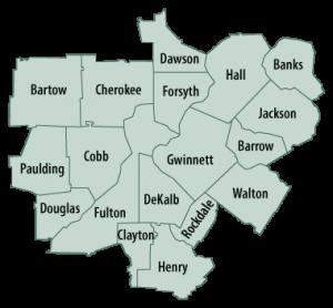 Capstone Hospice Service Area Map